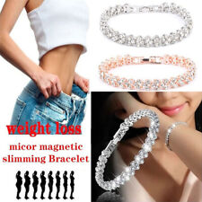 Magnetic Therapy Bracelet Beads Health Care Weight Loss Jewelry Women's Crys Fn