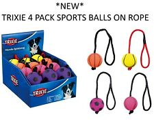 *NEW* TRIXIE 4 PACK FOAM ROPE SPORTS BALLS  DOG PUPPY THROW FLOATING TOY 34591