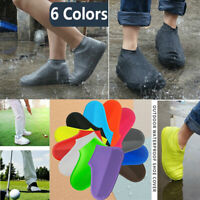 1 Pair Anti-Slip Waterproof Shoe Covers Reusable Silicone Rain Snowing Boot UA