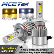 Dual Color MCETek H4 HB2 LED Headlight Bulb Light Fog Hi&Lo Beam Kit HID Yellow