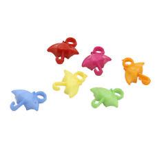 1000pcs Mixed Color Umbrella Charms Plastic Pendants Delicate Jewelry Findings D