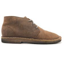 SeaVees 3 Eye Chukka Brown Grain Leather Desert Boots Men's 9.5