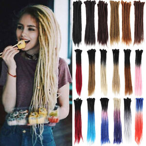 "20"" 24"" Ombre Synthetic Dreadlocks Crochet Braid Punk Dread Locs Hair Extensions"