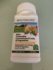 Amway NUTRILITE Kids Chewable Vitamin ConNtrate Fruits Y Vegetables 60 Tablets )