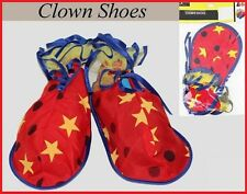CLOWN Indoor SHOES 1 pair ~ Stars Dots Circus Carnival Costume Party CHILD-ADULT
