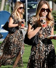 NEW Dolce Vita Fresia Animal pleated maxi dress as seen on Lauren Conrad S $292