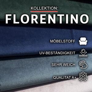 Polsterstoff FLORENTINO Möbelstoff Velours Modern Meterware