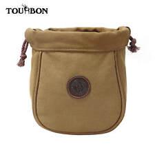 Bolsa de cinturón de cartucho de Cuero de Lona Tourbon titular Munición Escopeta Cáscara Bolsa 12GA