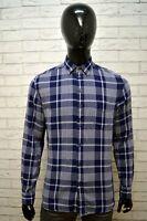 Camicia Blu Uomo DIESEL Taglia L Hemd Shirt Man Polo Maglia Manica Lunga