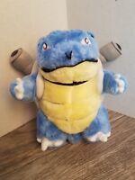 "Vintage 1999 Pokemon BLASTOISE  12"" Plush Nintendo blue stuffed toy"
