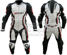 Mizma One Piece Motorbike Racing Leather Suit  For Mens & Womens All Size MML102