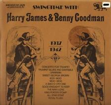 HARRY JAMES AND BENNY GOODMAN swingtime with 101.611 italy 1973 LP PS EX/EX