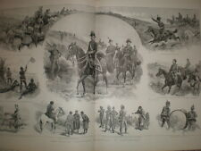 Army Easter Volunteer Manoeuvres at Eastbourne 1893 large old print
