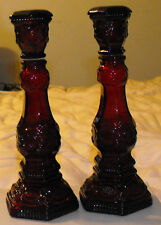 Vintage Avon Cape Cod 1876 Red Candle Stick Holders