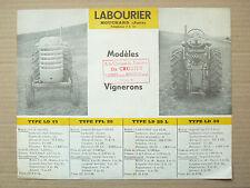 Prospectus Tracteur LABOURIER LD15 à LD30 Vigneron Tractor Traktor brochure