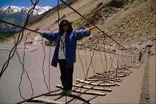 782075 Suspension Bridge In Gulmit Upper Hunza A4 Photo Print