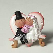 Bomboniera segnaposto calamite SPOSI SU PANCHINA matrimonio bomboniere