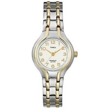 Ladies Timex Indiglo Two Tone Stainless Steel Band White Dial Watch T27191