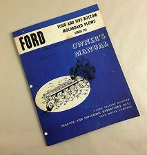 Ford Four And Five Bottom Moldboard Plows Series 118 Owners Operators Manual