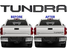 Gloss Black Tailgate Letter Inserts For 2014-2019 Toyota Tundra New Free Ship