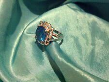 Blue topaz ring size 8 USA 🇺🇸 size P 🇬🇧
