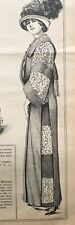 MODE PRATIQUE May 18,1912 + sewing pattern - Automobile coat, Afternoon dress