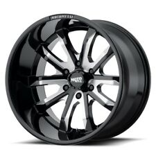 "20"" Moto Metal MO983 Dagger Black Milled Wheel 20x12 6x5.5 -44mm Chevy GMC 6 Lug"