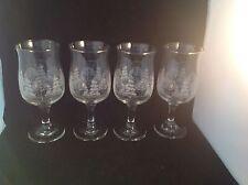 "Libbey Wine Glasses 7"" High Frosty Pine Set Of 4"