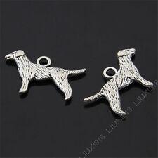 15pc Tibetan Silver Dog Animal Pendant Charms Beads Accessories 15*23.5mm B460P