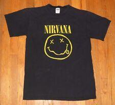 Vintage 1992 Nirvana Concert T-Shirt Size M Black