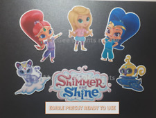 Shimmer & Shine Inspired Printed Edible Cake Decoration machine precision cut