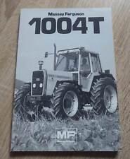 Massey Ferguson Schlepper 1004 T Betriebsanleitung
