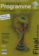 WORLD CUP FINAL 2006 Francia / ITALIA MINT programma