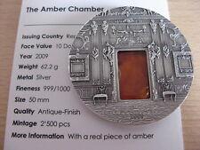 PALAU 2009 The Amber Chamber Mineral Art $10 2oz Ag UNC CoA #21.1389