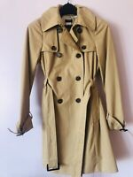 J Crew Womens Size 0 Khaki Belted Trench Coat Very nice!
