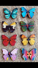 Pack of 8 Wooden Butterfly Buttons