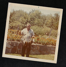 Vintage Photograph Older Man Holding Dead Fish on String / Rope