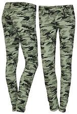 Lexxury Damenjeans Hüftjeans Jeans Röhrenjeans Hose Camouflage Mint 32 34 36 38