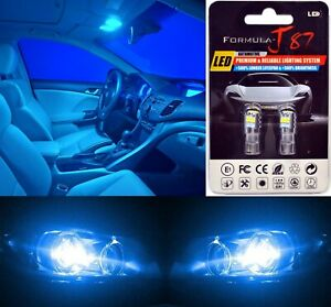 LED 3030 Light Blue 10000K 168 Two Bulbs License Plate Tag Replace OE Philips