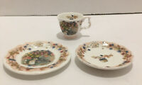 Royal Doulton Brambly Hedge Autumn Miniture Cup& Saucers 3pcs.pre Owned