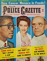 National Police Gazette Jan 1958 Sammy Davis Jr Jew - Pope - Princess Meg - VG