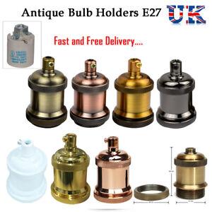 E27 Bulb Holder Retro Edison Vintage Lamp Antique Metal Light Fitting Sockets