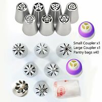 Magik DIYCake Decor Russian Icing Piping Nozzles Tips+bags+Coupler 28-56Pcs Set