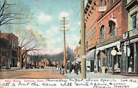 Scene of Main Street, Danbury, Connecticut, Early Postcard, Used in 1907