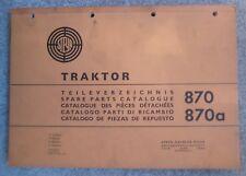 Steyr Traktoren 870 / 870a Ersatzteilkatalog