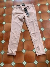 Bnwt New Look YES YES Jeans Pink Stretch Cotton  Size 12