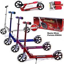 MONOPATTINO per bambini ragazzi in alluminio max 85 kg richiudibile ruote grandi