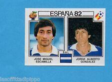 SPAGNA 82 ESPANA- PANINI -Figurina n.225- ESCAMILLA+GONZ.-EL SALVADOR-Recuperata