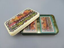 Budweiser Clydesdales Hoyle Playing Card Set with Tin Litho Metal Case, Unopened