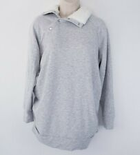 Isabel Maternity by Ingrid & Isabel Maternity Sherpa Collar Sweatshirt Sz S Gray